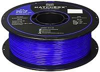 HATCHBOX 3D PLA-1KG1.75-BLU PLA 3D Printer Filament, Dimensional Accuracy +/- 0.05 mm, 1 kg Spool, 1.75 mm, Blue from HATCHBOX