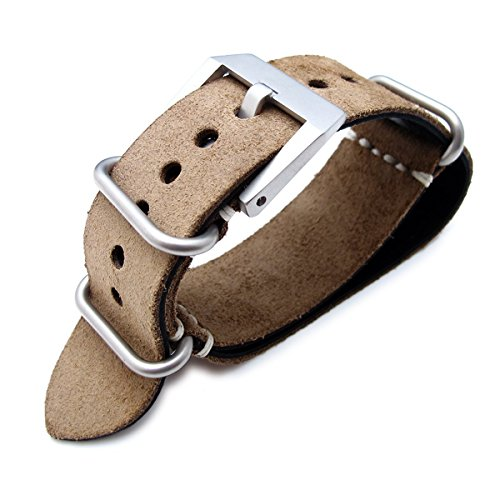 Beige Leather Watch - 4