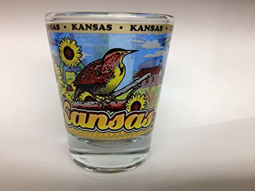Kansas State Wraparound Shot Glass
