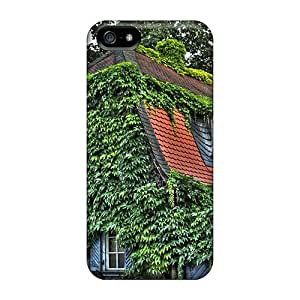 Rugged Skin Case Cover For Iphone 5/5s- Eco-friendly Packaging(ivy House)