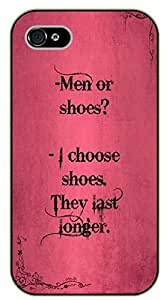 For Ipod Touch 4 Case Cover Men or shoes. I choose shoes, they last longer. - black plastic case / Inspirational and motivational