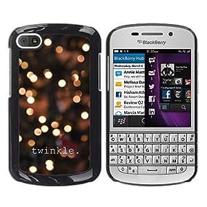 TopCaseStore / la caja del caucho duro de la cubierta de protección de la piel - Lights City Text Bright Night Blur - BlackBerry Q10