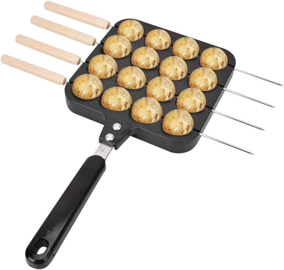 Takoyaki Grill Pan Plate Cooking Baking Mold Tray Cast Aluminum Non-Stick Japanese Food Round Pancake