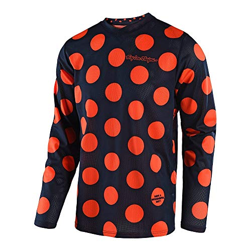 Troy Lee Designs Men's Offroad Motocross Polka Dot GP Air Jersey (XX-Large, Navy/Orange)