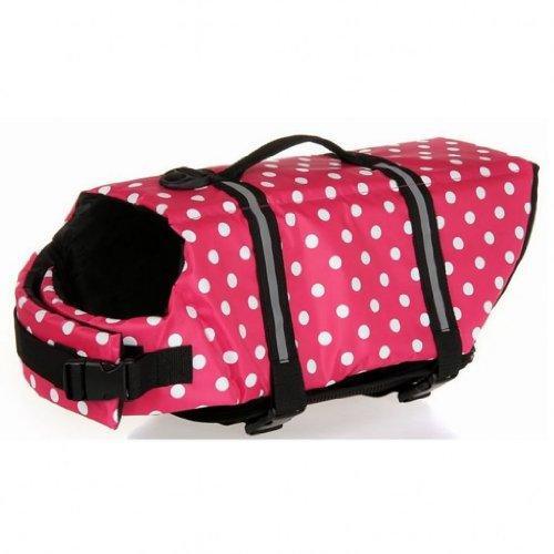 Outward Dog Life Jacket for Dog Safety Vest Dog Jacket Dog Preservers Saver,Pink Ploka Dot,XXS, My Pet Supplies