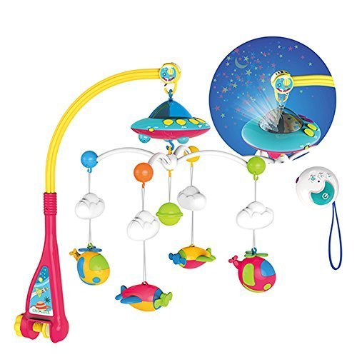 Huanger Hanging Toy Projection Baby Crib Musical Mobile (Musical Mobile with Remote-controller)