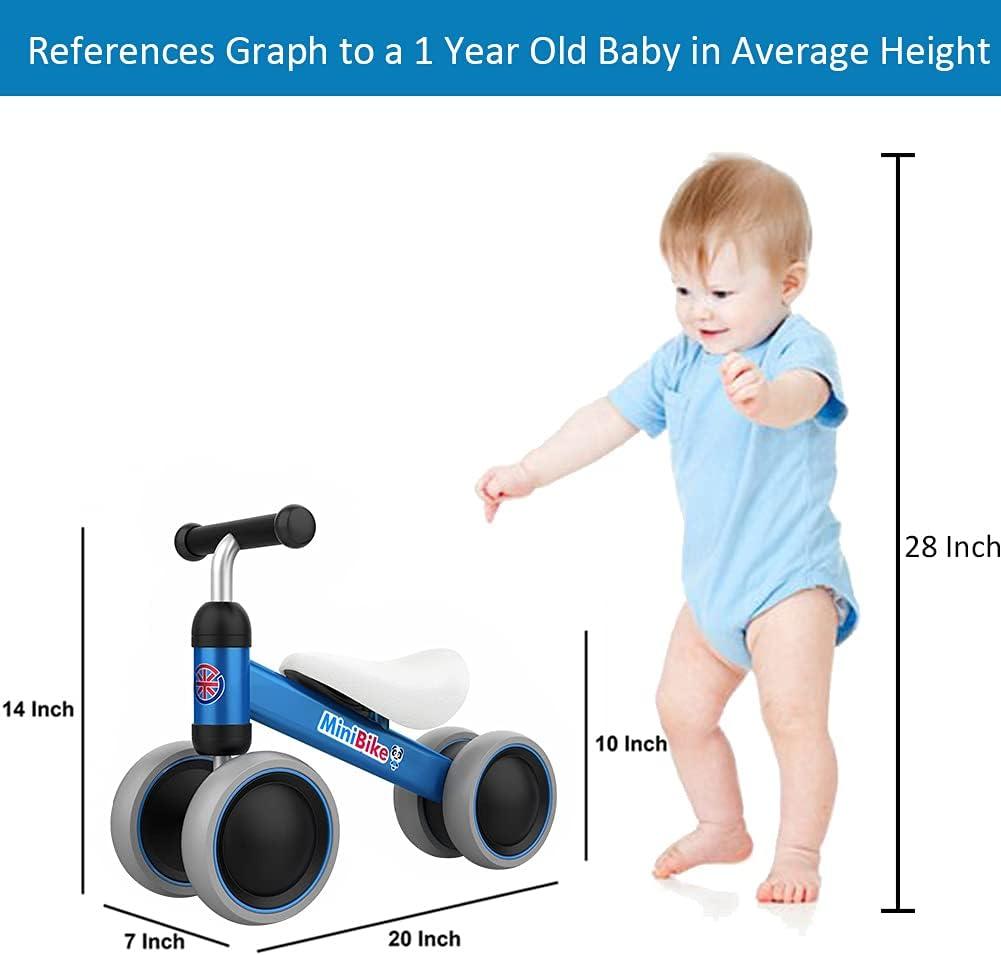 US 12/'/' Kids Children Walker Balance Bike No-Pedal Carbon Steel Inflatabl