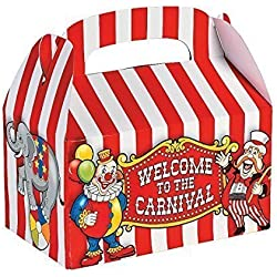 Fun Express Under the Big Top Empty Favor Boxes Party Accessory (2-Pack of 12)