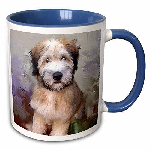 3dRose 4810_6 Soft Coated Wheaten Terrier - Two Tone Blue Mug, 11 oz, Multicolored ()