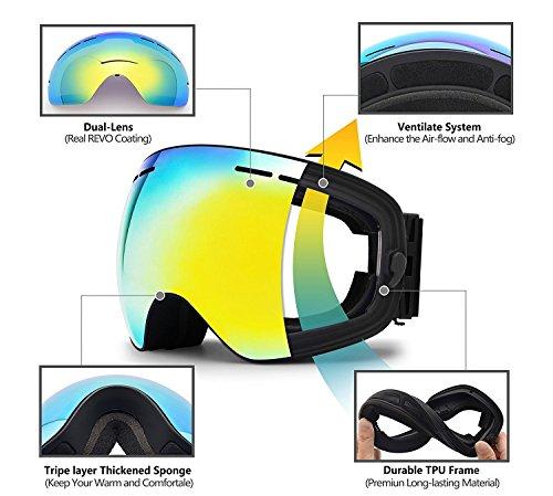 85ca0ff7db hongdak Ski Goggles