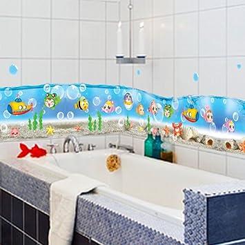 GroBartig S.Twl.E Badezimmer Mit Dusche Wand Fliesen Glas Wasserdicht Dekoration  Abnehmbaren Aufkleber Kinderzimmer