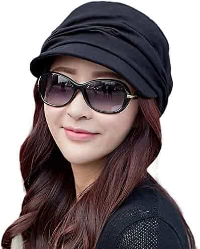22265f1152cd9 SIGGI Womens Newsboy Cabbie Beret Cap Cloche Cotton Painter Visor Hats  Summer