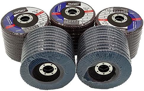 80 Grit Flap Wheel Zirconium Oxide Sanding Discs 115mm Angle Grinder 4½ Inch