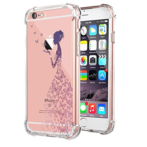 Price comparison product image Beryerbi iPhone 6 6s Plus Case Transparent Flexible TPU Ultra-Thin Anti-Scratch Air Cushion Technology Protective Cover (1, iPhone 6/6s)