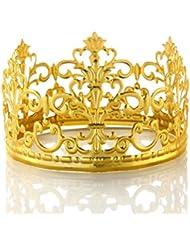 VEBE Vintage Mini Princess Crown Cake Topper Small Wedding Birthday Party Decoration (Gold)
