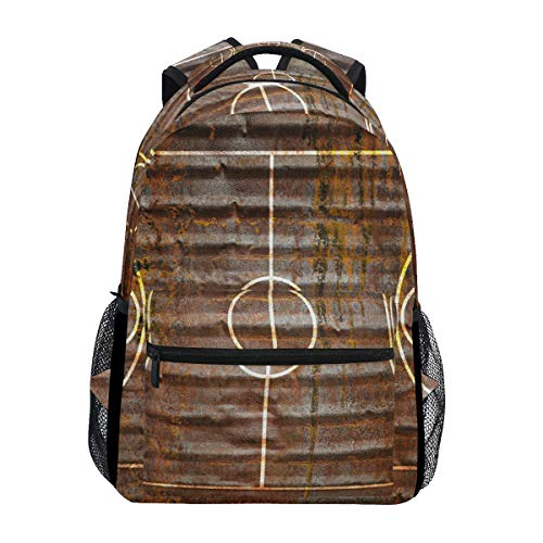 - XLING Backpacks Vintage Sport Basketball Playground Multi Function School College Canvas Book Bag Travel Hiking Camping Canvas Daypack