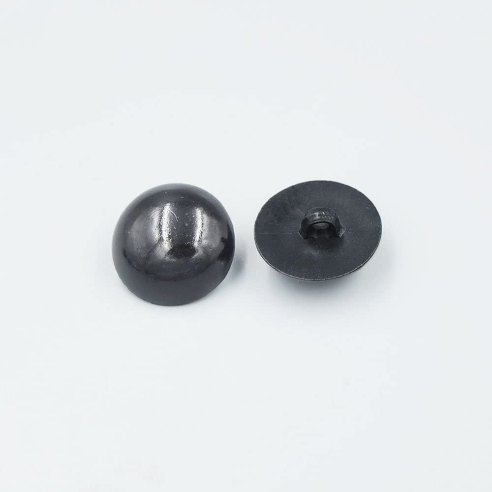 16MM TOPWEL 100PCS Solid Black Plastic Safety Noses Eyes for Sewing for Bear Doll of DIY