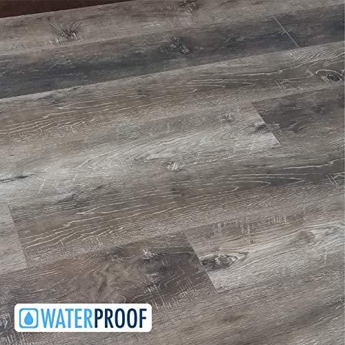 Cheap  Turtle Bay Floors Waterproof Click WPC Flooring - Rustic Sawn Hardwood-Look Floating..