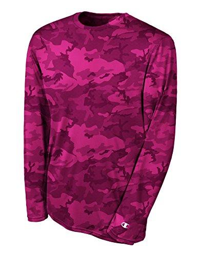 Champion Double Dry Long Sleeve Tee-2XL-Wow Pink Camo