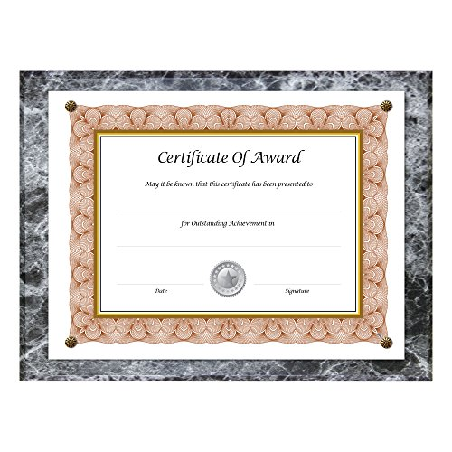 NuDell Award Plaque 8.5 x 11 Inches, Black Marble (Black Award Plaque)
