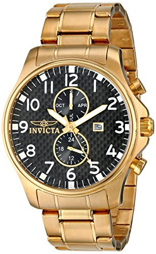 Invicta Men's 0382 II Collection 18k Gold-Plated Stainless Steel Watch ()