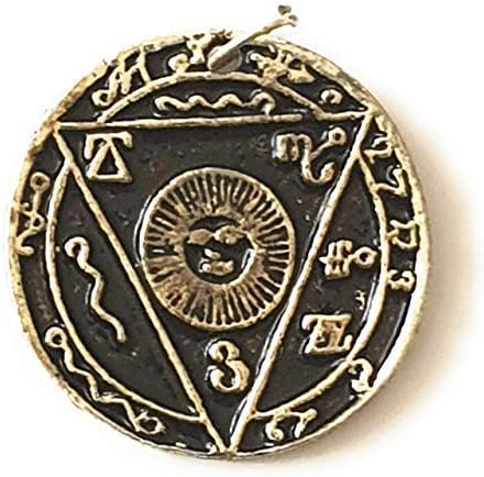 Tierra divinatoria amuleto y talismán de protección – Joyas esótéricas – en colgante o sobre seda – El poder contra todas las ventajas – 100 % sin ...