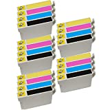 5 Set of 4 Inkfirst® 124 Ink Cartridges Compatible Remanufactured for Epson 124 Black, 124 Cyan, 124 Magenta, 124 Yellow (Moderate Capacity) Stylus NX330 NX420 NX430 NX125 NX127 NX130 NX230 WorkForce 320 323 325 435 T1241, T1242, T1243, T1244