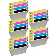 5 Set of 4 Inkfirst® 125 Ink Cartridges Compatible Remanufactured for Epson 125 Black, 125 Cyan, 125 Magenta, 125 Yellow WorkForce 320 323 325 520 Stylus NX420 NX530 NX625 NX125 NX127 NX130 NX230 T1251, T1252, T1253, T1254