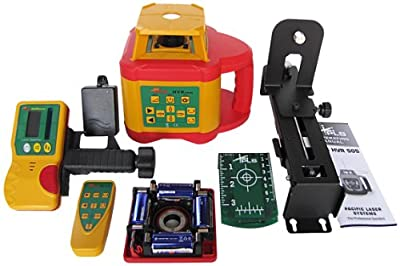 PLS Laser PLS-60579 PLS HVR 505G Highly Visible Rotary Laser System, Yellow/Red/Green