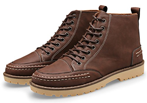 Mens Martin Chukka Boot Lace-up Stivaletti Da Trekking Desert Boots Outdoor Da Lavoro Di Santimon Brown