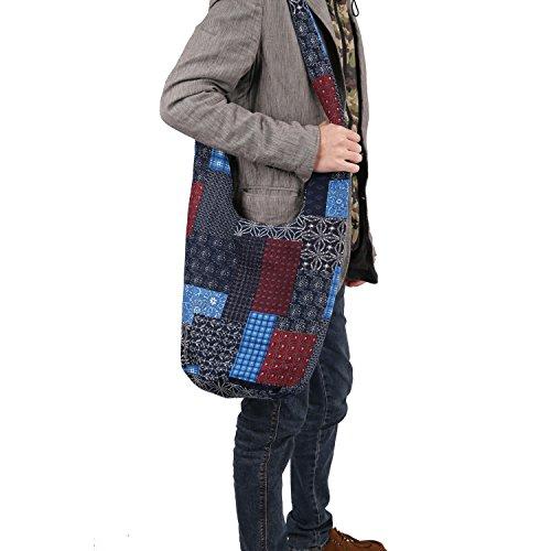 Many Color Pattern Hippie Printed Sling Crossbody Bag Purse Thai Top Zip Handmade New Color Shoulder Bag Outdoor Travel School Laptop Bag