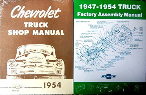 (FULLY ILLUSTRATED 1954 CHEVY TRUCK & PICKUP REPAIR SHOP & SERVICE MANUAL & FACTORY ASSEMBLY MANUAL SET. Sedan Delivery, Panel, Stake, Suburban; Light Duty, Medium Duty, Heavy Duty CHEVROLET)