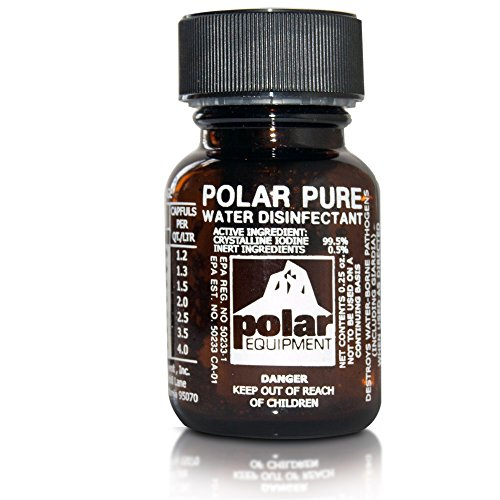 Polar Pure Iodine Water Filter Purifier Sterilizes 2,000 Quarts