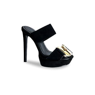 59b93578105b Mifani-Black Platform Mule  Amazon.co.uk  Shoes   Bags
