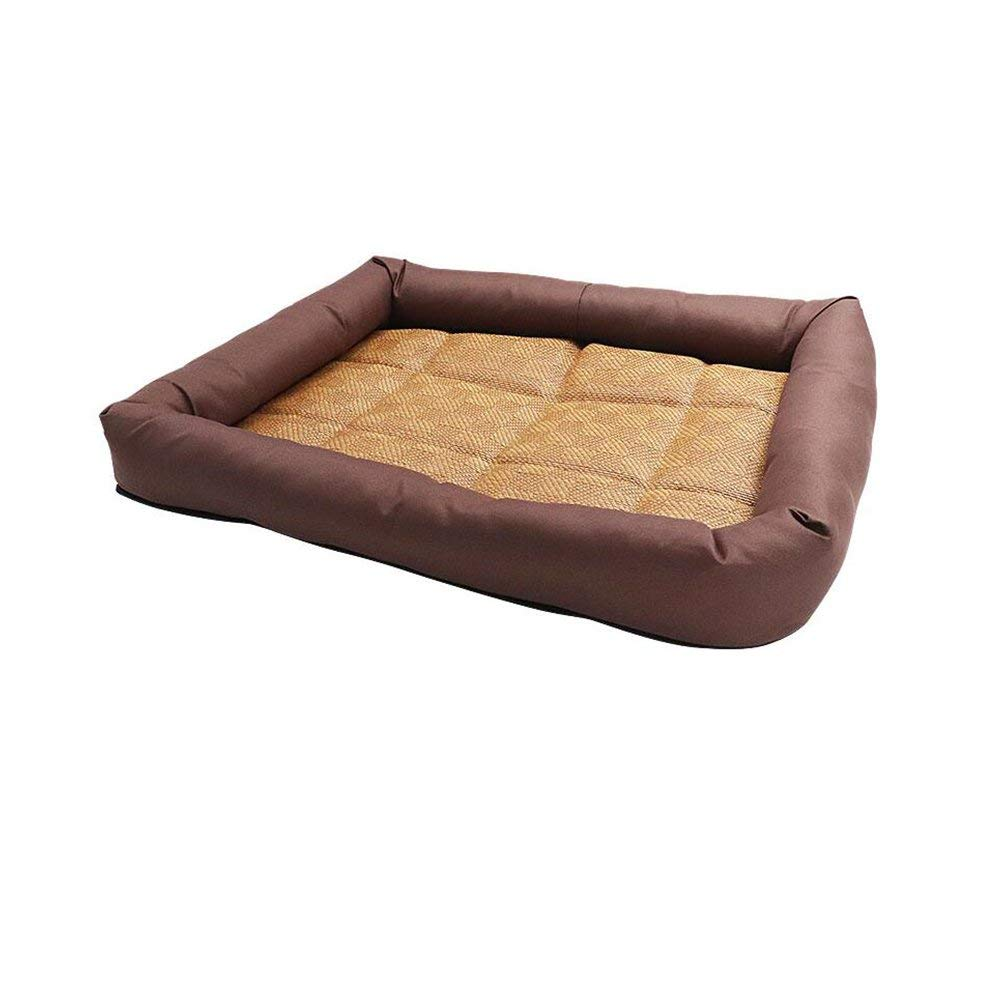 Brown Pet Bed Beds Breathable Cooler Pad Cats and Kennels Pet Bed Wear-Resistant Durable Waterproof and Moistureproof (color   Brown)
