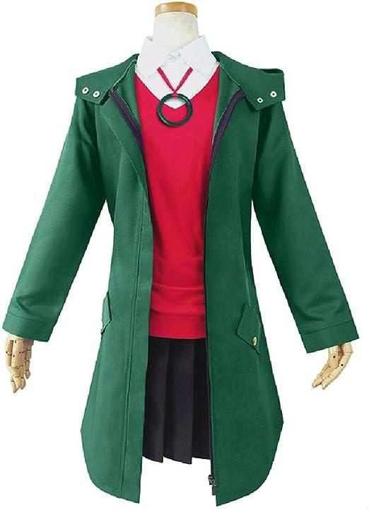 YKJ Disfraz de Cosplay de Anime Chaqueta Verde Camisa roja y Falda ...