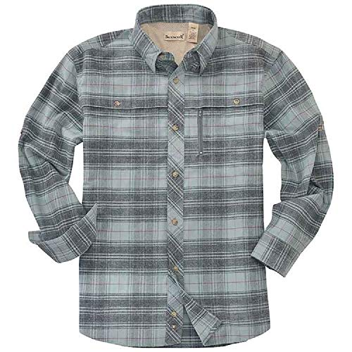 Backpacker Apparel Men's Albacore Stretch Flannel Shirt, Lt. Teal, X-Large