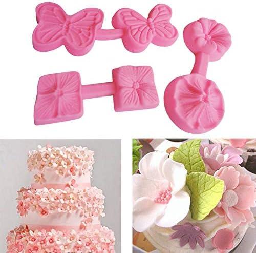 DIY Flower Silicone Fondant Candy Cake Mold Chocolate Sugarcraft Baking Mold