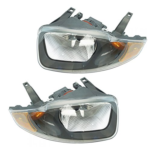 Headlights Headlamps Left & Right Pair Set for 03-05 Chevy - Chevy Cavalier Chevrolet Headlight
