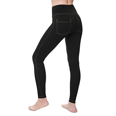 NIRLON Jeggings for Women High Waist Tummy Control Jean Leggings with Pockets Plus Size at Women's Jeans store
