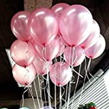 Latex Balloons - SODIAL(R)100pcs 10 inch Colorful Pearl Latex Balloon Celebration Party Wedding Birthday Pink