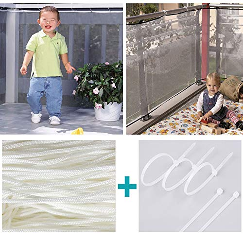 ️ Yu2d ❤️❤️ ️Stair Safety Net Small Gridding Protection Installation Balcony Baby Secure Gate ()