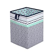 Tribal/Aztec Kids Storage (Hamper 14 x 14 x 19 inches, Mint/Navy)
