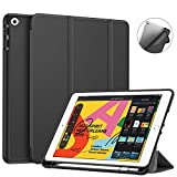 Fintie SlimShell Case for New iPad 7th Generation 10.2 Inch 2019 with Built-in Pencil Holder - Lightweight Smart Stand Soft TPU Back Cover - Auto Wake Sleep for iPad 10.2
