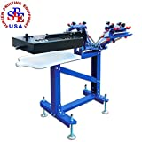 3 Color 1 Station Floor Type with Dryer Single Color Screen Press DIY Equipment