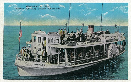 Glass Bottom Boat in Avalon, Catalina Island, California (16x24 SIGNED Print Master Giclee Print w/Certificate of Authenticity - Wall Decor Travel Poster)