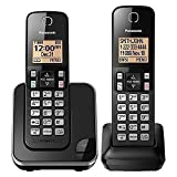 PANASONIC Expandable Cordless Phone System with Amber Backlit Display - 2 Handsets - KX-TGC352B (Black