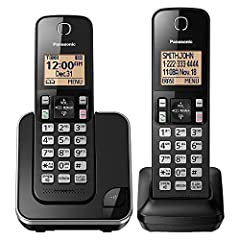 The Panasonic KX TGC352B Expandable Cordless Phone System with Amber Backlit Display and Call Block works great in any home or home office. Includes one cordless handset in the phone's base unit and one additional cordless handset, expandable...