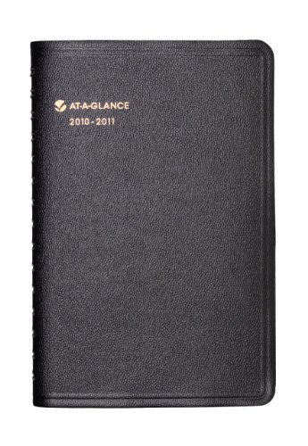 AT-A-GLANCE Academic Year Daily Appointment Book, July 2010 - June 2011, Black (7080705)