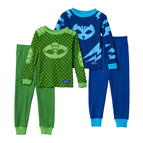 [PJ Masks Gekko & Catboy 4-pc. Pajama Set Toddler Boy (2T)] (Pj Mask Costume)